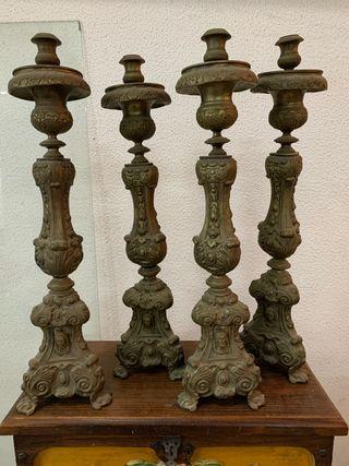 Candelabro Bronce Antigüedades