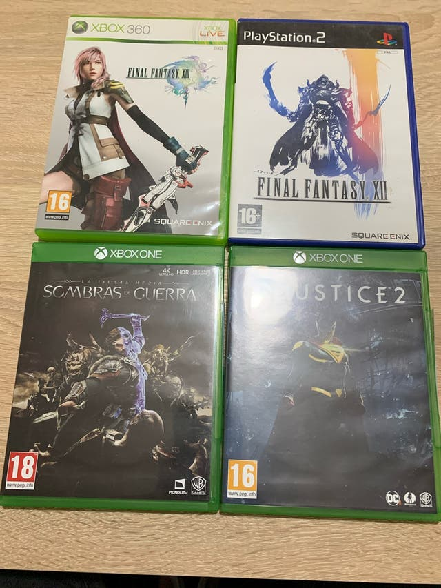 Lote juegos Xbox one y ps2