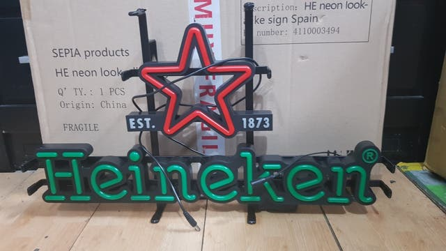 luminoso Heineken