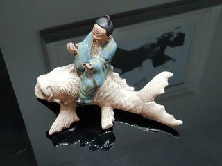 Porcelana Anciano Confucio Pez koi