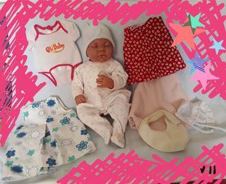 ANTONIO JUAN muñeca recién nacida con ropa