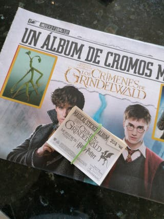 cromos Harry Potter Los crímenes de Grindelwald