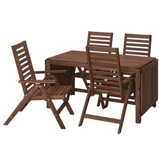 conjunto mesa y sillas jardín
