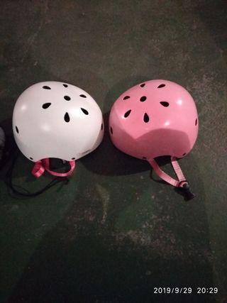 cascos y protectores patines sin estrenar
