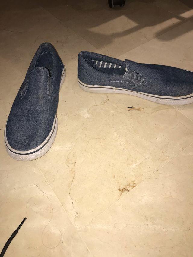 Zapatillas Semiformales Azules (Buen Estado)