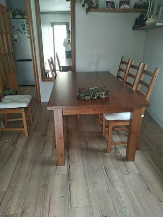 mesa comedor rústica sin sillas precio negociable