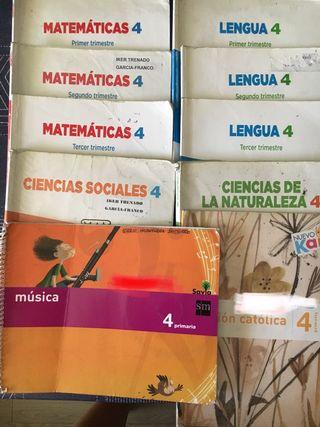 Libros de texto cuarto