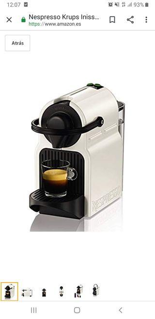 cafetera nespresso krups blanca