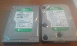 Dos discos duros western Digital 1.0 TB