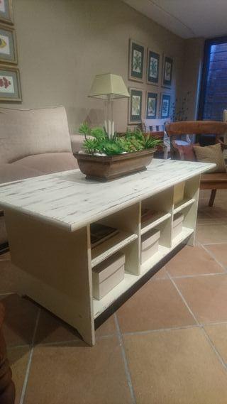 Mesa de centro madera maciza nueva