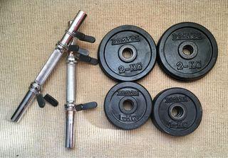 Kit mancuerdas musculación 20kg