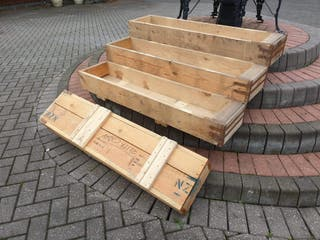 reclaimed rustic wooden boxes