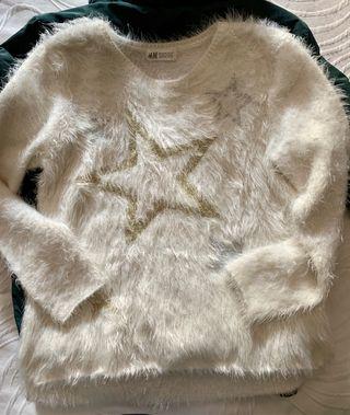 Jersey blanco de niña