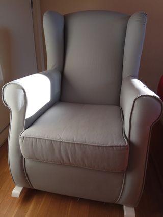 Mecedora de lactancia sillón orejero