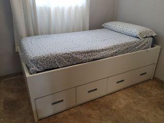 Estructura cama con canapé y cajones