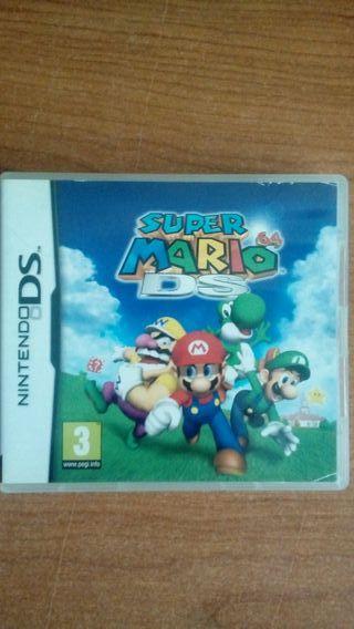 Caja e instrucciones del Super Mario 64 DS