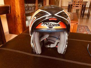 Casco moto nitro abatible como nuevo