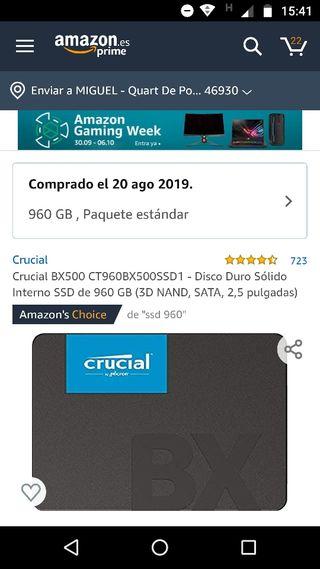 disco duro ssd 1TB Crucial