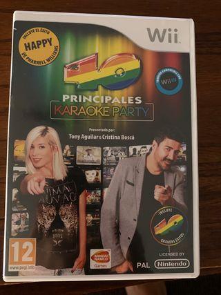 Juego karaoke Wii. 40 principales