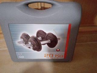 kit pesas musculación 20 Kg.