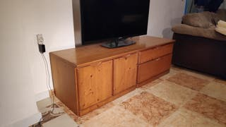 mueble salón salita madera natural