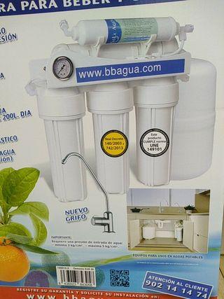 montaje de filtros de agua