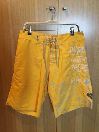 Bañador amarillo hombre talla M