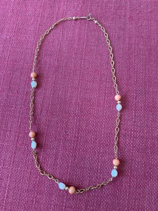 Gargantilla goldfield con perlas