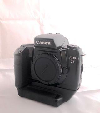 Canon eos 5 analógica y grip