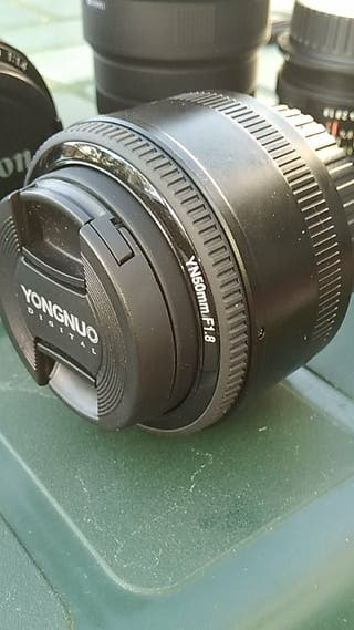 objetivo 50mm 1.8 para canon EOS. yongnuo