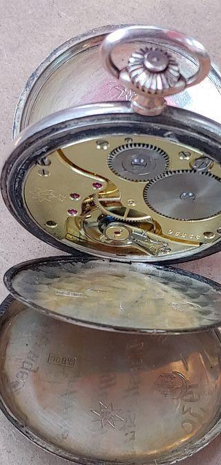 Antiguo Junghans plata maciza y oro 1936