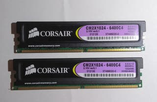 Memorias RAM Corsair XMS2 Kit 2x1GB