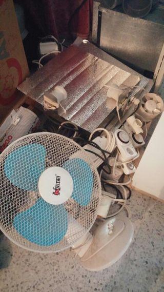 Focos con balastro macetas,extractores, ventilador