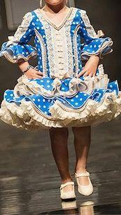 Vestido flamenca el abanico talla7/8.