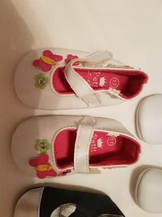 zapatos niña bebe nr 17 4-6 meses, lote D