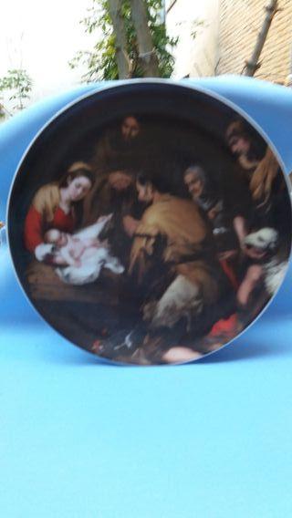 Plato de Porcelana con motivo de Natividad