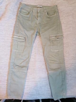pantalones militares pitillo