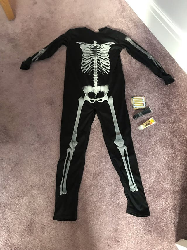 Child's Skeleton Halloween Costume