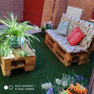 Muebles de jardín junto o separado