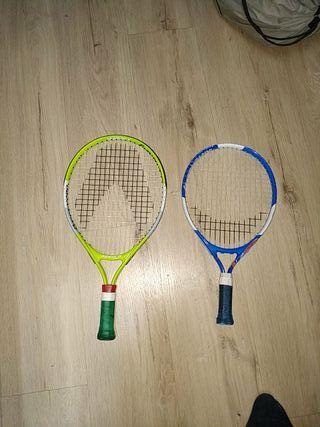 raquetas de tenis mini
