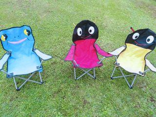 3 sillas plegables para niños,