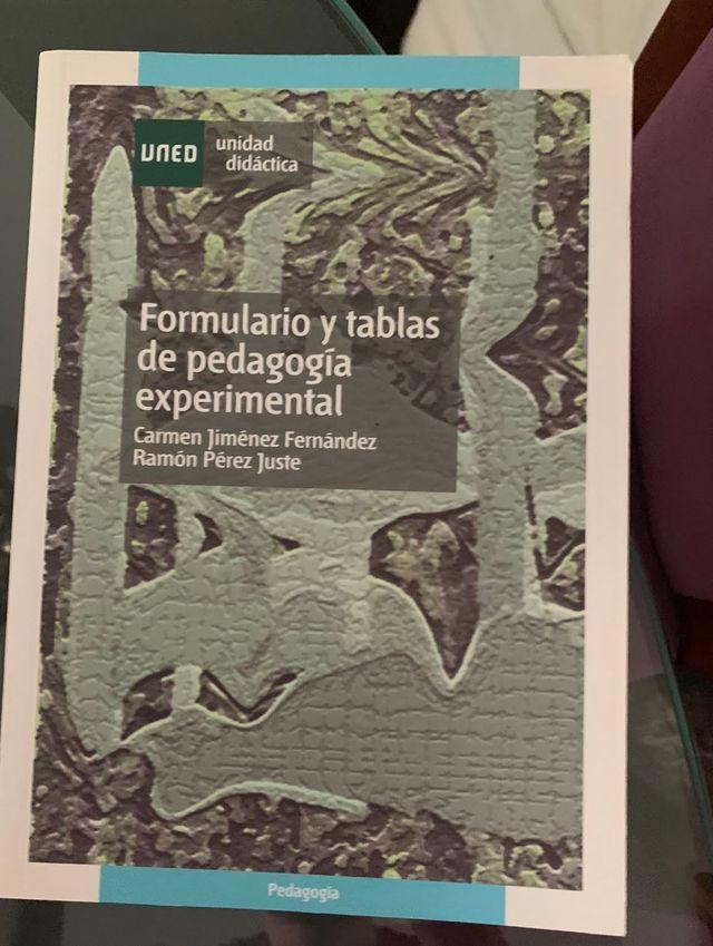 Formulario y tablas de pedagogia experimental Uned
