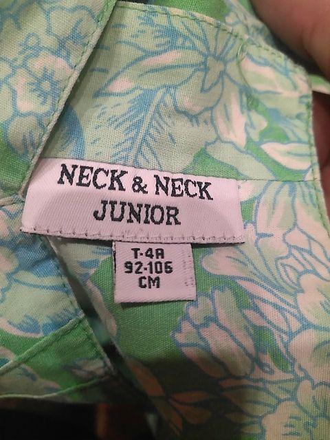 Vestido niña m/c Neck & Neck. Talla 4. Como Nuevo.