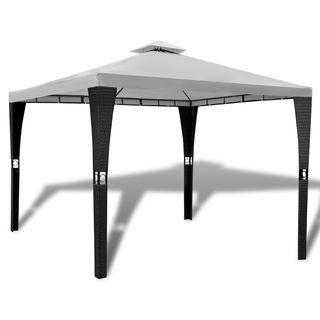 vidaXL Cenador con techo 3x3 m blanco crema 41450