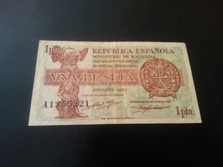 Billete de 1 peseta 1937 SERIE A MBC