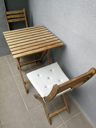 Mesa y sillas de jardín/terraza IKEA