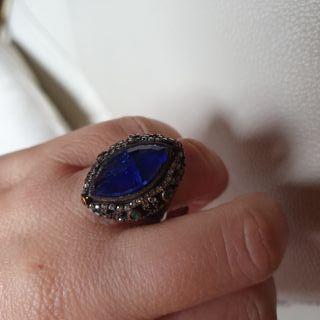 anillo nuevo piedra azul