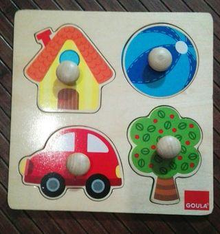 puzzle de madera de botón marca GOULA