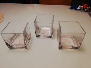 Jarrones cuadrados cristal