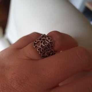 anillo plata oso